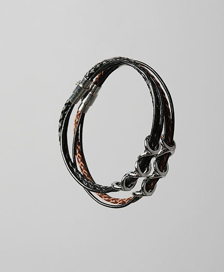 A-5145ZIGZAG PATTERN LEATHER BRACELETColor : 2 colorMaterial : leather
