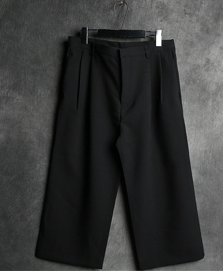 P-6150WIDE CROP SLACKS PANTSColor : 1 colorMaterial : cotton