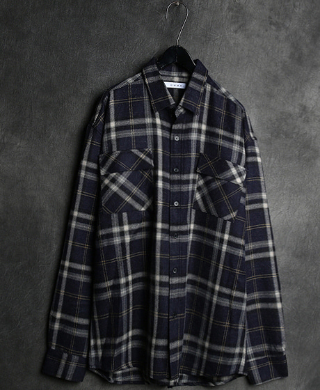 S-1700POKET CHECK PATTERN REGULAR SHIRT포켓 체크 패턴 레귤러 셔츠Color : 2 colorMaterial : cotton