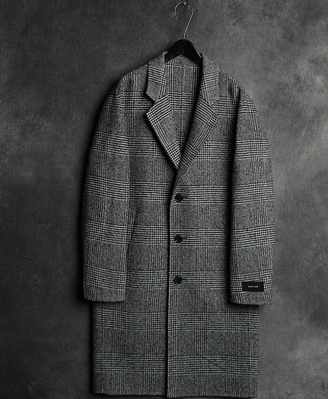 JK-7878S. HOUND TOOTH CHECK HEAND MADE COATS. 하운드투드 체크 핸드메이드 코트Color : 1 colorMaterial : wool