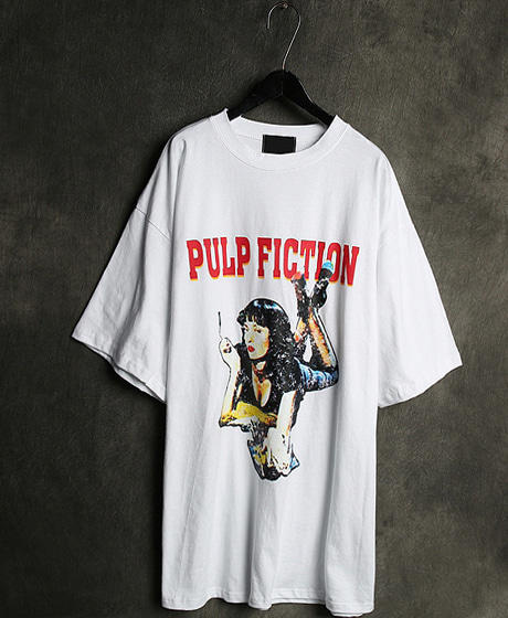 T-12464PULP FICTION PRINTING T-SHIRT펄프픽션 프린팅 티셔츠Color : 2 colorMaterial : cotton