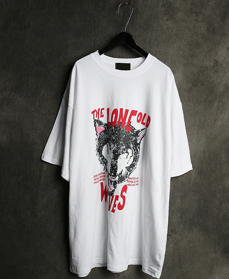 T-12469WOLF PRINTING T-SHIRT울프 프린팅 티셔츠Color : 3 colorMaterial : cotton