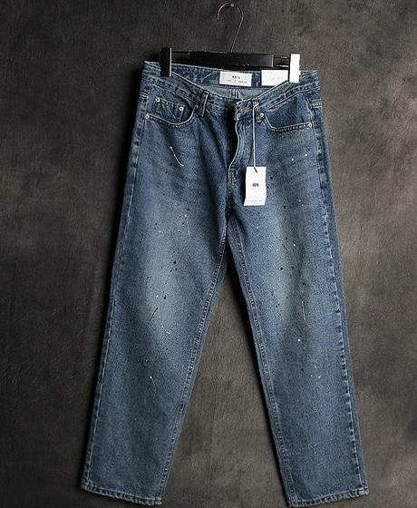 P-7970PAINTING DENIM PANTS페인팅 데님 팬츠Color : 1 colorMaterial : denim