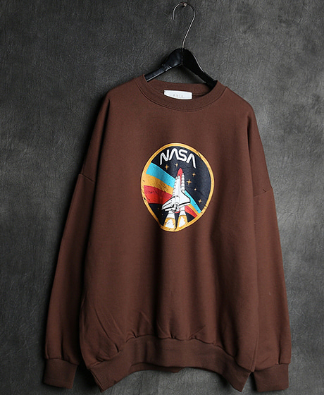 T-13273NASA PRINTING MTM나사 프린팅 맨투맨Color : 2 colorMaterial : cotton