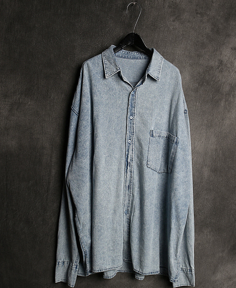 S-2095SNOW DENIM SHIRT스노우 데님 셔츠Color : 2 colorMaterial : cotton/denim