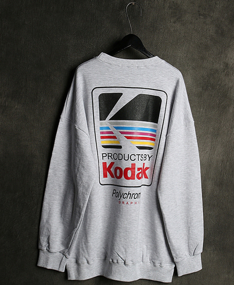 T-13740KODAK PRINTING MTM코닥 프린팅 맨투맨Color : 2 colorMaterial : cotton