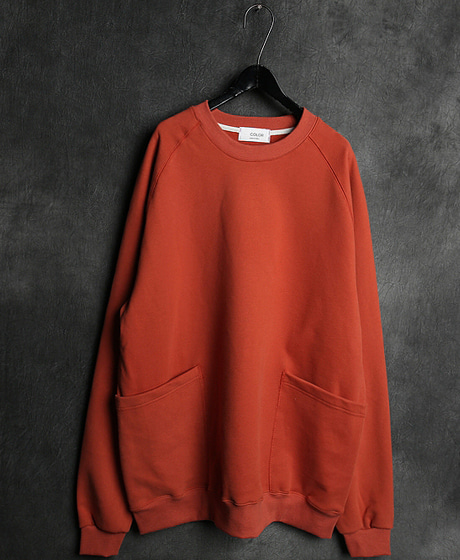 T-14038BIG POKET MTM빅포켓 맨투맨Color : 3 colorMaterial : cotton
