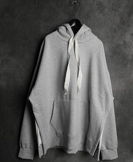 T-14040INCISION HOODIE TEE절개 후드티Color : 3 colorMaterial : cotton