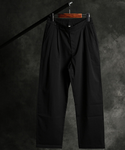 P-10121three button banding straight pants