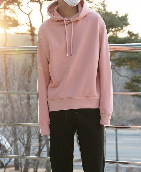 T-8689ACN TYPOGRAPHY HOODIE TEEColor : pink/navyMaterial : cotton