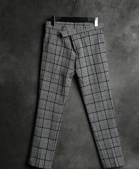 P-5620TB CHECK PATTERN SLACKS PANTSColor : 1 colorMaterial : cotton