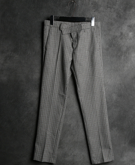 P-5620BLCG CHECK PATTERN SLACKS PANTSColor : 1 colorMaterial : cotton