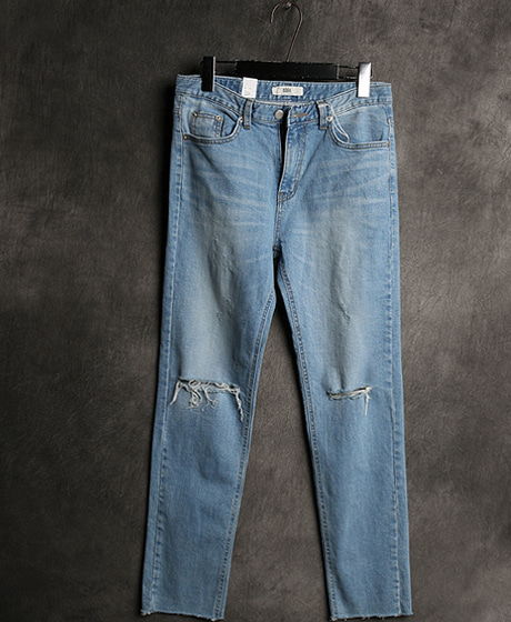 P-6089DAMAGED WASHING DENIM PANTSColor : 1 colorMaterial : cotton