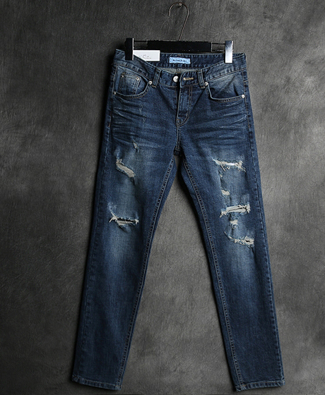 P-6445DAMAGED DENIM PANTS데미지 데님 팬츠Color : 1 colorMaterial : denim