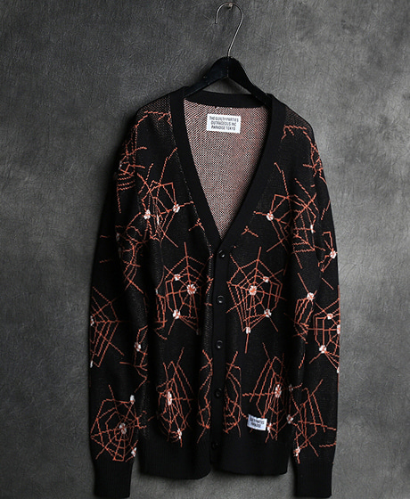 JK-7124WACKO MARIA SPIDER WEB CARDIGAN JACKET와코마리아 거미줄 가디건 자켓Color : 2 colorMaterial : wool/acrylic/cotton
