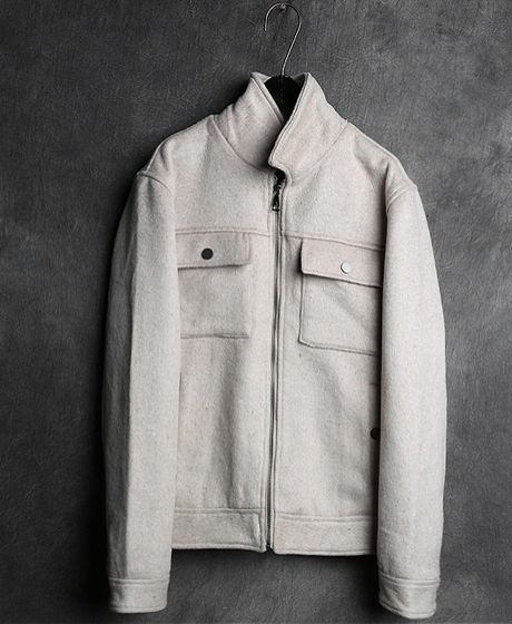 JK-6992WOOL DOUBLE POKET ZIP-UP JACKET울 더블 포켓 집업 자켓Color : 3 colorMaterial : wool