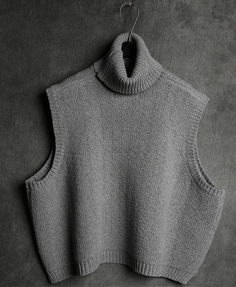 T-10892TANK TOP POLO NECK KNIT탱크탑 폴로넥 니트Color : 2 colorMaterial : sweater