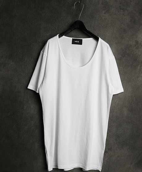 T-11520ALEX. WANG U NECK T-SHIRTU 넥 티셔츠Color : 2 colorMaterial : cotton