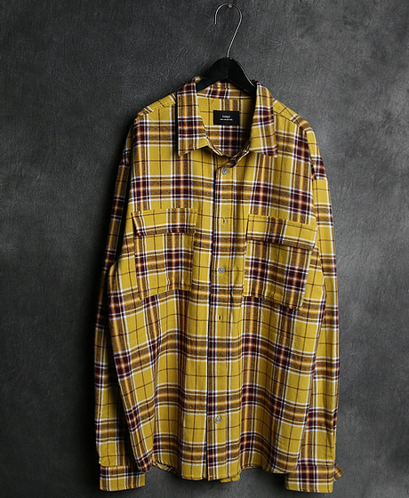 S-1837FOG CHECK PATTERN DOUBLE POKET SHIRT체크 패턴 더블 포켓 셔츠Color : 2 colorMaterial : cotton