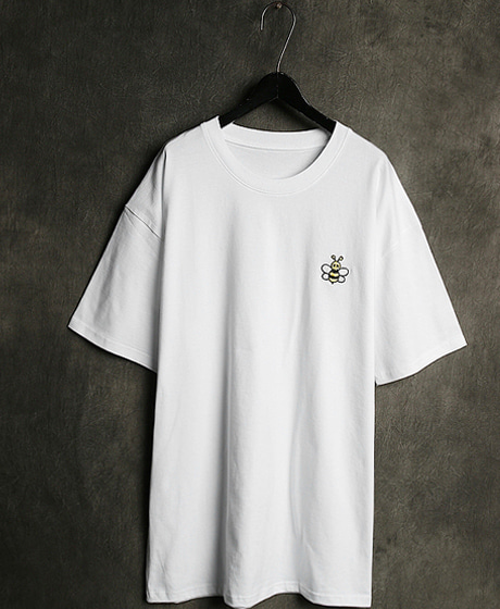 T-12166DO BEE EMBROIDERY T-SHIRTDO 벌 자수 티셔츠Color : 2 colorMaterial : cotton