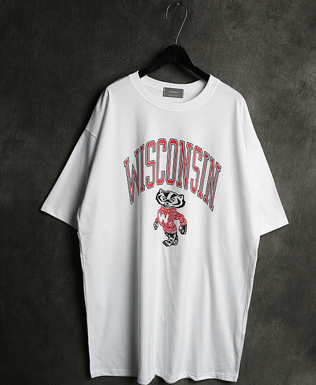 T-11982WISCONSIN PRINTING T-SHIRT위스콘신 프린팅 티셔츠Color : 3 colorMaterial : cotton