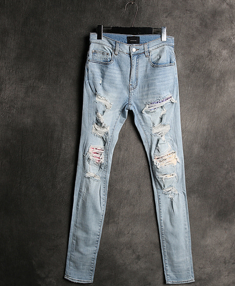 P-7378AMIRI DAMAGED DENIM PANTSAMIRI 데미지 데님 팬츠Color : 1 colorMaterial : denim