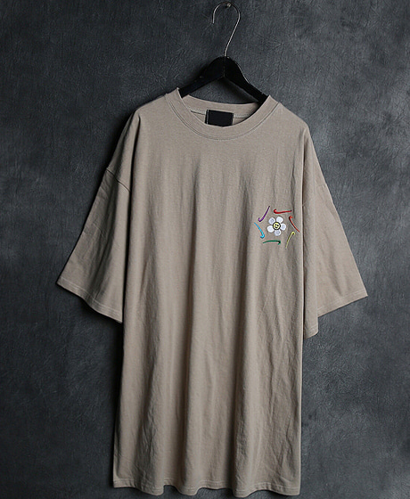 T-12465LOGO EMBROIDERY T-SHIRT로고 자수 티셔츠Color : 3 colorMaterial : cotton