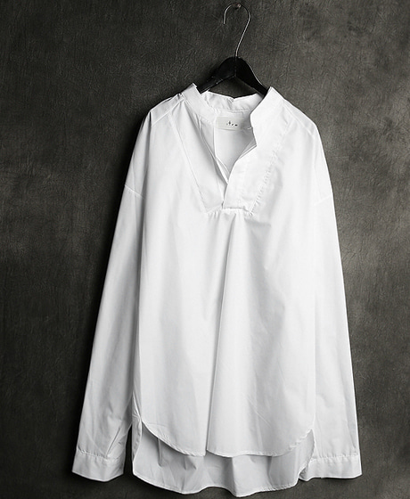 S-1956DOUBLE KARA NECK TUNIC SHIRT이중 카라넥 튜닉 셔츠Color : 2 colorMaterial : cotton