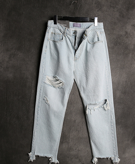 P-7603DAMAGED PANTS데미지 팬츠Color : 1 colorMaterial : denim
