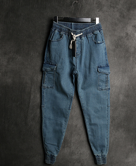P-7824DENIM JOGGER PANTS데님 조거 팬츠Color : 3 colorMaterial : denim