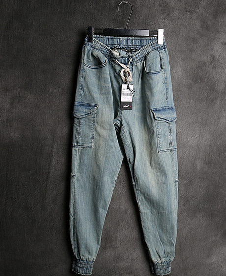 P-7823DENIM JOGGER PANTS데님 조거 팬츠Color : 2 colorMaterial : denim