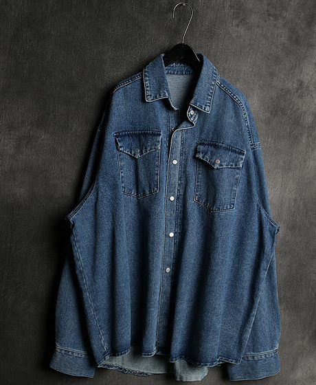 S-2211VTM POKET OVERSIZED DENIM SHIRTVTM 포켓 오버사이즈 데님 셔츠Color : 2 colorMaterial : cotton/denim