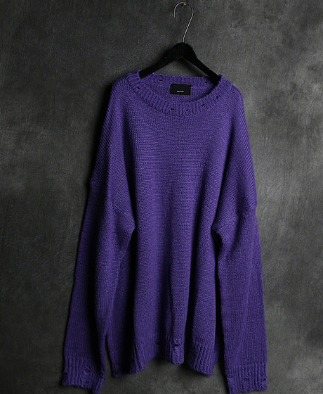 T-13745DAMAGED KNIT데미지 니트Color : 4 colorMaterial : wool