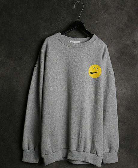 T-14013SMILE PRINTING MTM스마일 프린팅 맨투맨Color : 2 colorMaterial : cotton