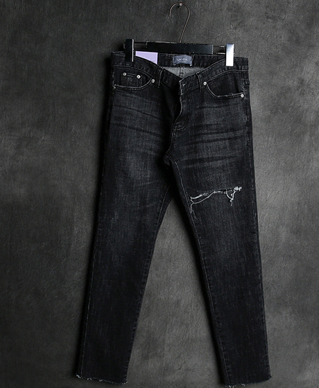P-8361DAMAGED DENIM PANTS데미지 데님 팬츠Color : 1 colorMaterial : denim
