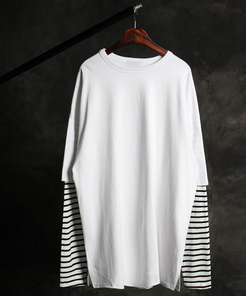 T-16243layered t-shirt