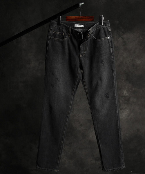 P-9846back incision denim pants